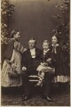 Hon. Katharine Campbell Elidor (née Claughton) with her father, brother and sister, by Unknown photographer - NPG Ax9622