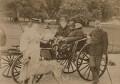 Catherine Gladstone (née Glynne); William Ewart Gladstone and friends, by Unknown photographer - NPG x1448