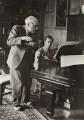 Ernest Ansermet; Benjamin Britten, by Unknown photographer - NPG x15206