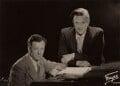 Benjamin Britten; Peter Pears, by Fayer - NPG x15226