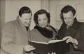 Peter Pears; Kathleen Ferrier; Benjamin Britten, by Unknown photographer - NPG x15229