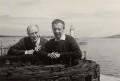 Mstislav Rostropovich; Benjamin Britten, by Unknown photographer - NPG x15244