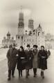 Benjamin Britten with Peter Pears, Galina Vishnevskaya, Mstislav Rostropovich and Marion Stein, by E.I. Iavno - NPG x15245