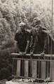 Mstislav Rostropovich; Peter Pears; Benjamin Britten, by Unknown photographer - NPG x15252
