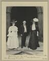Mrs Thomas; Robert Duncan; Mrs Robert Duncan, by Sir (John) Benjamin Stone - NPG x15799