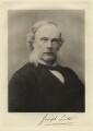 Joseph Lister, Baron Lister, by Barrauds Ltd, printed by  Walker & Boutall - NPG x20057