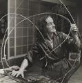 Barbara Hepworth at work on the armature of a sculpture, by Ida Kar - NPG x88502