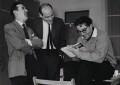 Graham Stark; Richard Lester; Peter Sellers, by Herbert K. Nolan - NPG x24199