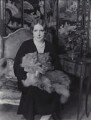 Elinor Glyn with her cats Candide and Zadig, by Claude Harris - NPG x24929