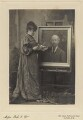 Helen Bramwell Norris with a painting of Algernon Charles Swinburne, by Poole & Co - NPG x25144