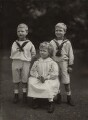 King George VI; Princess Mary, Countess of Harewood; Prince Edward, Duke of Windsor (King Edward VIII), by Elliott & Fry - NPG x26026