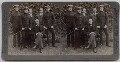 'His Excellency Sir Alfred Milner and Staff, Cape Town, South Africa', published by Underwood & Underwood - NPG x26384
