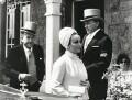 Noël Coward; Dame Elizabeth Taylor; Richard Burton and an unknown woman, by Jane Bown - NPG x28637