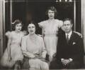 Princess Margaret; Queen Elizabeth II; Queen Elizabeth, the Queen Mother; King George VI, by Marcus Adams - NPG x28913