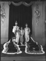 Princess Margaret; King George VI; Queen Elizabeth II; Queen Elizabeth, the Queen Mother, by Hay Wrightson - NPG x32326