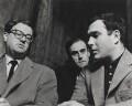 Playwrights (John Mortimer; Norman Frederick Simpson; Harold Pinter), by John Hedgecoe - NPG P781