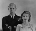 Queen Elizabeth II; Prince Philip, Duke of Edinburgh, by Dorothy Wilding - NPG x34084