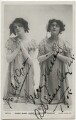 Mabel Green as Marie-Blanche; Adrienne Augarde as Blanche-Marie in 'The Little Michus', published by Rotary Photographic Co Ltd - NPG x36067