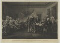 The Declaration of Independence of the United States of America, July 4th 1776, by Asher Brown Durand, after  John Trumbull - NPG D1357