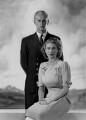 Prince Philip, Duke of Edinburgh; Queen Elizabeth II, by Dorothy Wilding - NPG x38009