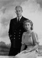 Prince Philip, Duke of Edinburgh; Queen Elizabeth II, by Dorothy Wilding - NPG x38010