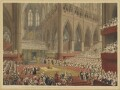 The Coronation of His Majesty, George the Fourth: Taken at the Time of the Recognition. July 19, 1821, by Matthew Dubourg, after  James Stephanoff - NPG D10706