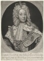 King George II when Prince of Wales, by John Smith, after  Sir Godfrey Kneller, Bt - NPG D10756