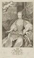 Caroline Wilhelmina of Brandenburg-Ansbach, by George Vertue, after  Jacopo Amigoni - NPG D10772