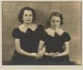 Barbara Adler Katzander (née Adler); Nancy J. Adler, by Dorothy Wilding - NPG x4349