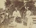 Sir William James Herschel, 2nd Bt; Amelia (née Herschel), Lady Wade; Alexander Stewart Herschel; Julia Mary Maclear (née Herschel), by Unknown photographer - NPG x44698