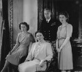 Princess Margaret; Queen Elizabeth, the Queen Mother; Queen Elizabeth II; King George VI, by Dorothy Wilding - NPG x45074