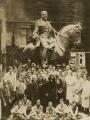 Arthur Brian Burton and Sir Thomas Brock with the staff of Arthur Brian Burton's foundry, by Frederick William Braddock - NPG x45231