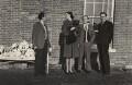 Arthur Jeffress; Audrey Grace Denison (née Bowles) with her dog; Michael Sherard (Malcolm Henry Sherrard); Budge Fraser, by Sandy Baird - NPG x47330