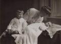 Michael Sherard (Malcolm Henry Sherrard), Ida Sherrard and his brother, by Chaplin Jones - NPG x47337