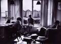 E.M. Forster; Benjamin Britten; Eric John Crozier, by Kurt Hutton (Kurt Hubschman) - NPG x15223