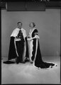 Patricia Christine Jellicoe (née O'Kane), Countess Jellicoe; George Patrick John Rushworth Jellicoe, 2nd Earl Jellicoe, by Lenare - NPG x5323