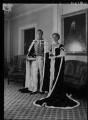 Tania (née Kolin), Lady Bruntisfield; Victor Alexander George Anthony Warrender, 1st Baron Bruntisfield of Boroughmuir, by Lenare - NPG x5350