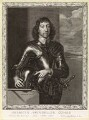Henry Frederick Howard, 15th Earl of Arundel, 5th Earl of Surrey and 2nd Earl of Norfolk, by Pierre Lombart, after  Sir Anthony van Dyck - NPG D10890