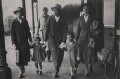 Princess Alexandra, Lady Ogilvy; Prince Edward George Nicholas Paul Patrick, Duke of Kent and four unknown attendants, by Unknown photographer - NPG x76562