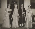 Valerie (née Cole), Lady Strathcarron; Anne Vere Chamberlain (née Cole); Neville Chamberlain; Diana Chamberlain, by Unknown photographer, for  Wide World Photos - NPG x76577