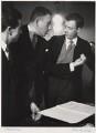 Sir Peter Neville Luard Pears; Francis Poulenc; Benjamin Britten, by Felix H. Man (Hans Baumann) - NPG x76594