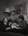 Hugh Todd Naylor Gaitskell; Cressida Gaitskell; (Anna) Dora Gaitskell (née Creditor), Baroness Gaitskell; Julia Gaitskell, by Philippe Halsman - NPG x76778