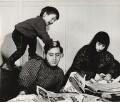 Bernard Kops; Erica Kops (née Gordon) and their son Adam Kops, by Ida Kar - NPG x31636