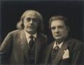 Vladimir de Pachman; Eugène Ysaÿe, by Claude Harris - NPG x9105