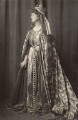 Priscilla Cecilia (née Moore), Countess Annesley as Queen Eleanor of Castile, by Henry Walter ('H. Walter') Barnett - NPG x45398