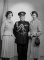 Arthur Joseph Beveridge; Clare Mary Elwes (née Beveridge); Rosalind Bertin (née Beveridge), by Navana Vandyk - NPG x98920