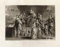'James I and his royal progeny', by Charles Turner, published by  Samuel Woodburn, after  Willem de Passe - NPG D34878