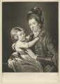'Mrs Green and Child' (Rupert Green; Mary Green), by Valentine Green, after  Pierre-Étienne Falconet - NPG D34904