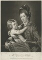 'Mrs Green and Child' (Rupert Green; Mary Green), by Valentine Green, published by  Robert Sayer, after  Pierre-Étienne Falconet - NPG D34905