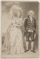 Elizabeth (née Farren), Countess of Derby; Thomas King as Lady Emily and Sir Clement in Burgoyne's 'The Heiress', by and published by John Jones, after  John Downman - NPG D35136
